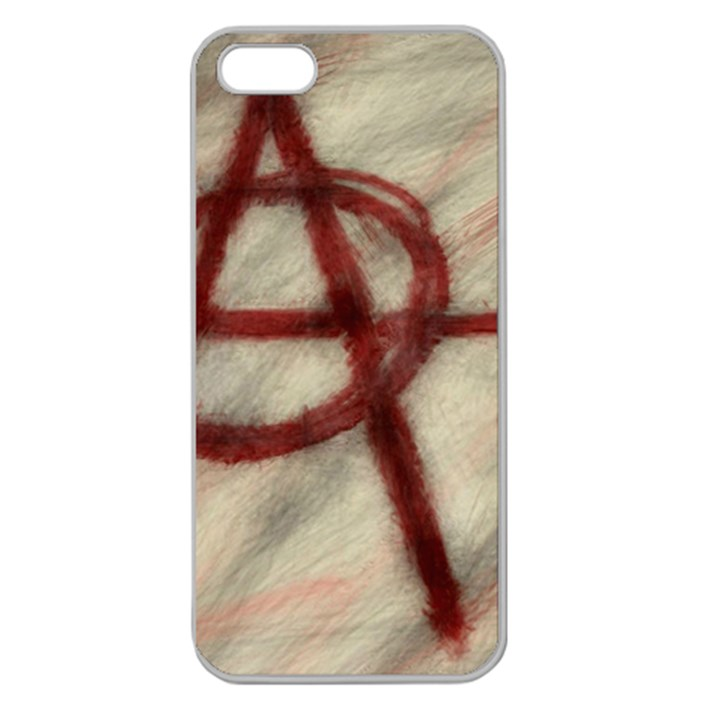 Anarchy Apple Seamless iPhone 5 Case (Clear)