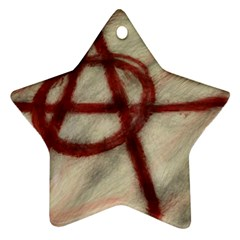 Anarchy Ceramic Ornament (star) by VaughnIndustries