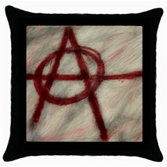Anarchy Black Throw Pillow Case by VaughnIndustries