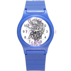 Game Over Round Plastic Sport Watch Small