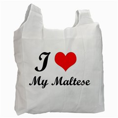 I Love My Maltese Twin Sided Reusable Shopping Bag