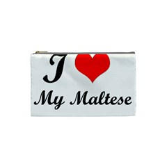 I Love My Maltese Small Makeup Purse