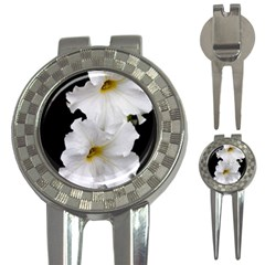 White Peonies   Golf Pitchfork & Ball Marker