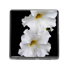 White Peonies   Card Reader With Storage (square) by Elanga