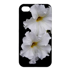 White Peonies   Apple Iphone 4/4s Premium Hardshell Case