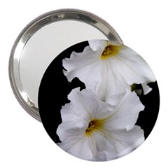 White Peonies   3  Handbag Mirror by Elanga