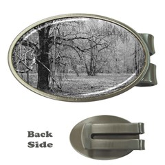 Black And White Forest Money Clip (oval)