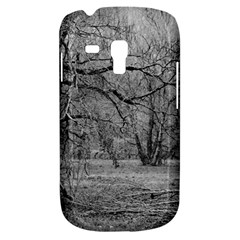 Black And White Forest Samsung Galaxy S3 Mini I8190 Hardshell Case by Elanga