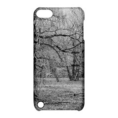 Black And White Forest Apple Ipod Touch 5 Hardshell Case With Stand by Elanga