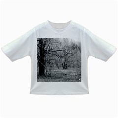 Black And White Forest Baby T Shirt by Elanga