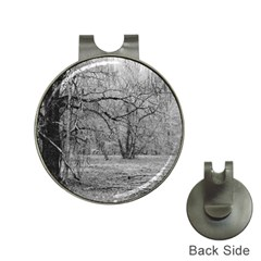 Black And White Forest Hat Clip With Golf Ball Marker by Elanga