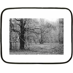 Black And White Forest Twin Sided Mini Fleece Blanket by Elanga