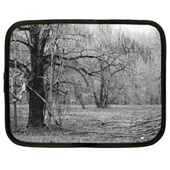 Black And White Forest 13  Netbook Case by Elanga