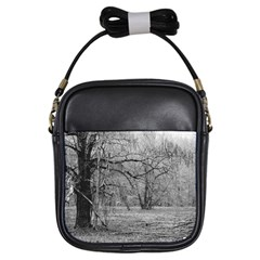 Black And White Forest Kids  Sling Bag