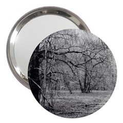 Black And White Forest 3  Handbag Mirror by Elanga