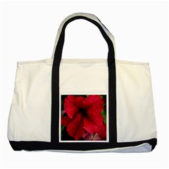 Red Peonies Two Toned Tote Bag by Elanga