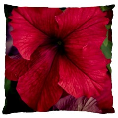 Red Peonies Large Cushion Case (two Sides) by Elanga