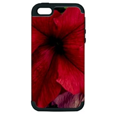 Red Peonies Apple Iphone 5 Hardshell Case (pc+silicone) by Elanga