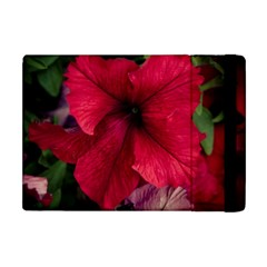 Red Peonies Apple Ipad Mini Flip Case