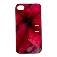 Red Peonies Apple Iphone 4/4s Hardshell Case With Stand