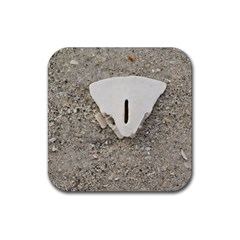 Quarter Of A Sand Dollar Rubber Drinks Coaster (square) by Elanga