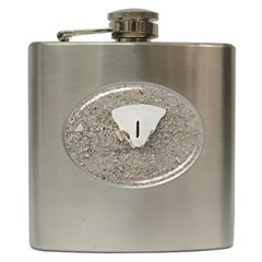Quarter Of A Sand Dollar Hip Flask by Elanga