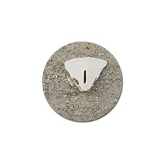 Quarter Of A Sand Dollar 4 Pack Golf Ball Marker by Elanga