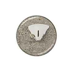 Quarter Of A Sand Dollar Golf Ball Marker (for Hat Clip) by Elanga