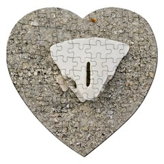 Quarter Of A Sand Dollar Jigsaw Puzzle (heart) by Elanga