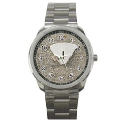Quarter Of A Sand Dollar Stainless Steel Sports Watch (round)