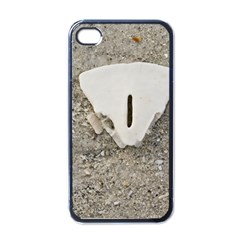 Quarter Of A Sand Dollar Black Apple Iphone 4 Case by Elanga