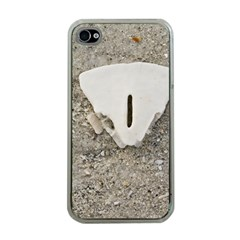 Quarter Of A Sand Dollar Apple Iphone 4 Case (clear) by Elanga