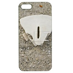 Quarter Of A Sand Dollar Apple Iphone 5 Hardshell Case With Stand by Elanga