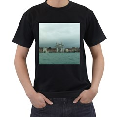 Venice Twin Sided Black Mens'' T Shirt by PatriciasOnlineCowCowStore