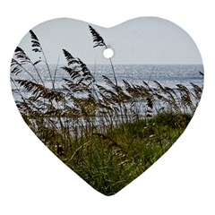 Cocoa Beach, Fl Ceramic Ornament (heart) by Elanga