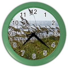 Cocoa Beach, Fl Colored Wall Clock by Elanga