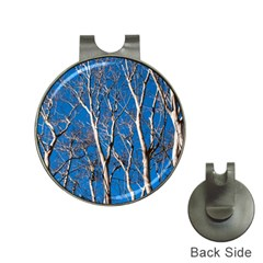 Trees On Blue Sky Hat Clip With Golf Ball Marker by Elanga