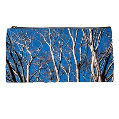 Trees On Blue Sky Pencil Case by Elanga
