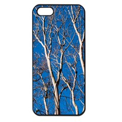 Trees On Blue Sky Apple Iphone 5 Seamless Case (black) by Elanga