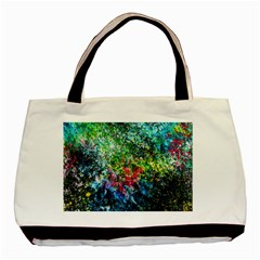 Raw Truth By Mystikka  Twin Sided Black Tote Bag