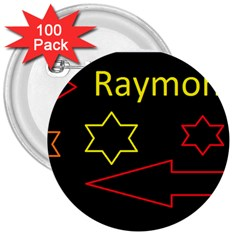 Raymond Tv 100 Pack Large Button (round)