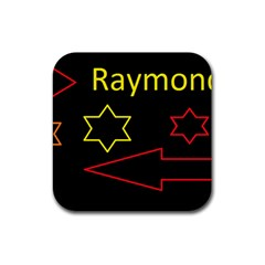 Raymond Tv Rubber Drinks Coaster (square)