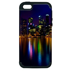 Night View Apple Iphone 5 Hardshell Case (pc+silicone)