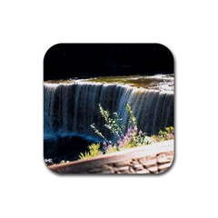 Waterfall 4 Pack Rubber Drinks Coaster (square) by awesomesauceshop