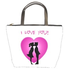 I Love You Kiss Bucket Handbag