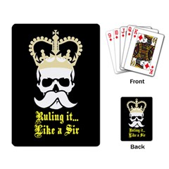 Like A Sir Playing Cards Single Design