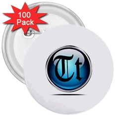 Small Logo Of Trickytricks 3  Button (100 Pack)
