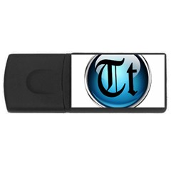 Small Logo Of Trickytricks 4gb Usb Flash Drive (rectangle)
