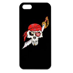 Pirate Skull Apple Iphone 5 Seamless Case (black) by DarkImage