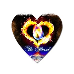 Thefloralcovenant Magnet (heart) by AuthorPScott